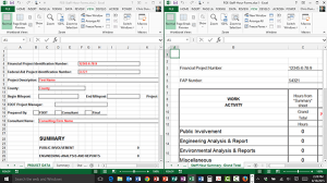 Splitting the Window in Excel