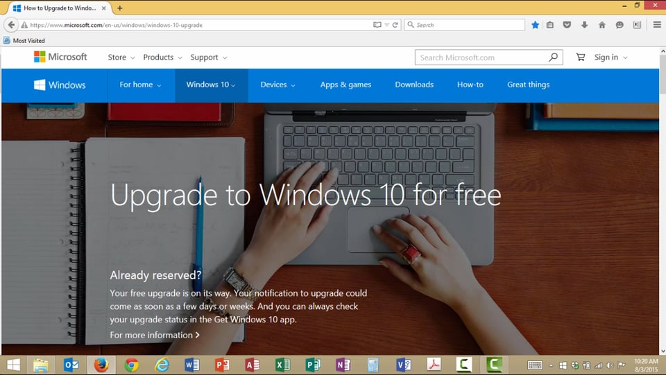 Windows 10 Upgrade: Part 1