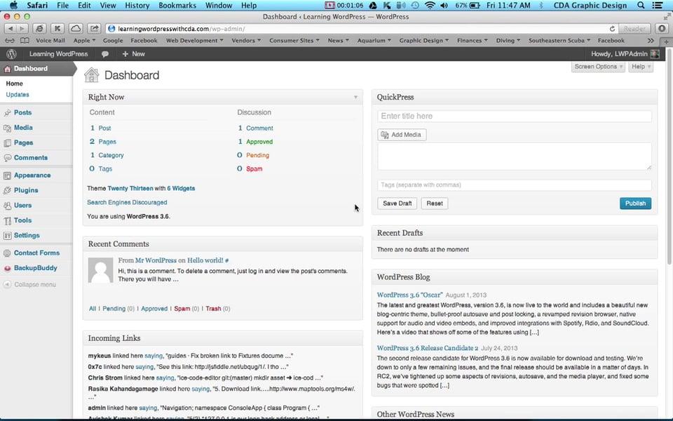 I've got a WordPress website! Now what?