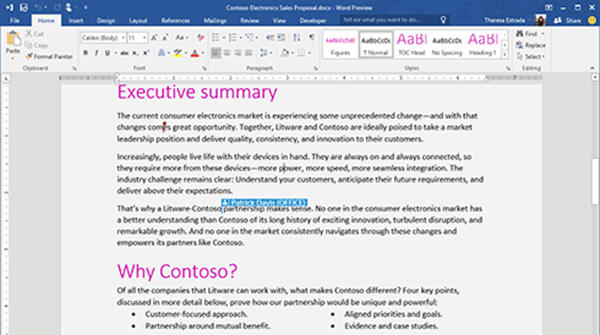 Real Time Co-Authoring in Word: Office 2016 New Feature