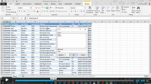 Go To Keyboard Shortcuts in Microsoft Excel and Word