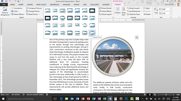 The More Button in Microsoft Office