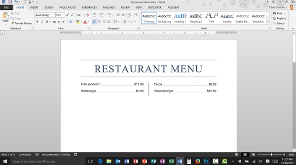 Using Tab Leaders and Tab Stops in Microsoft Word
