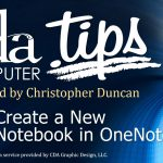 Create New Notebook with OneNote