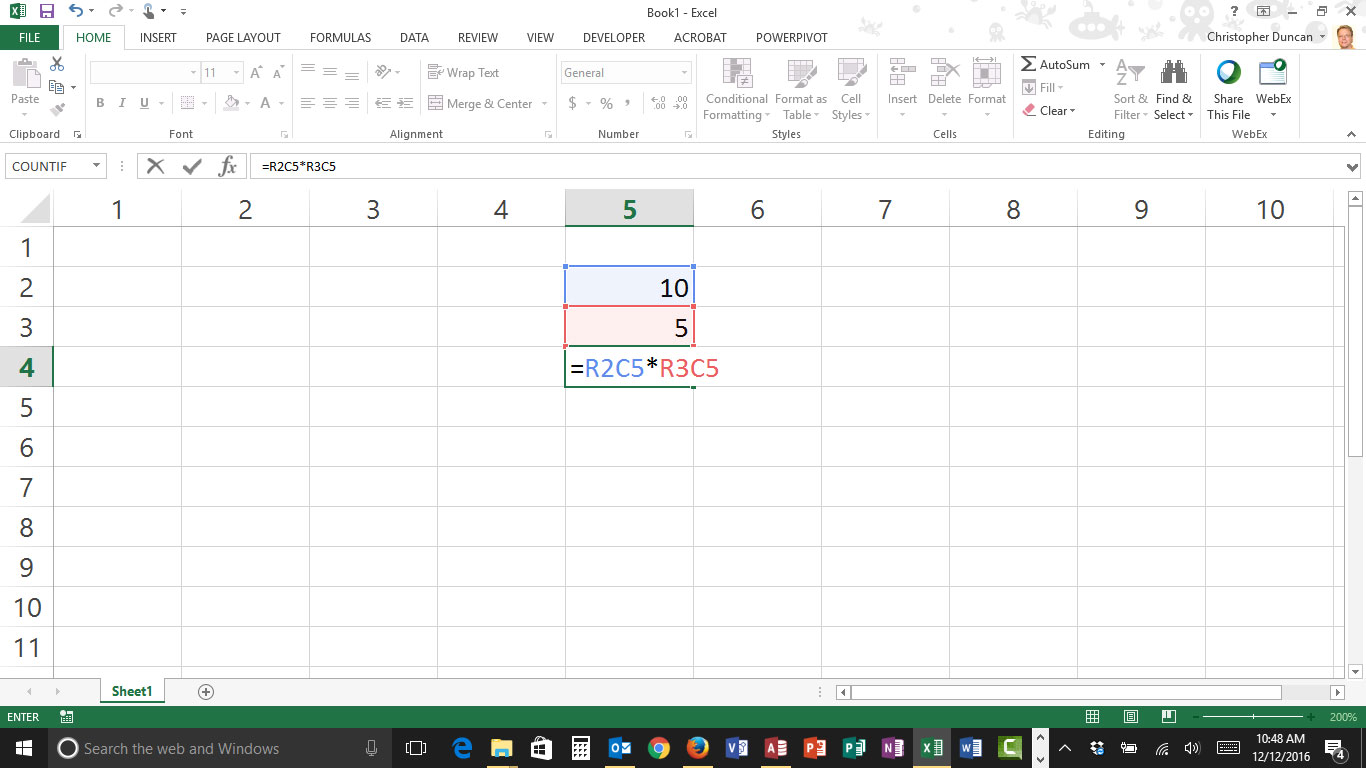 When Excel Columns become Numbers instead of Letters…