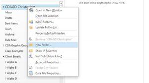 Create New Folders in Outlook