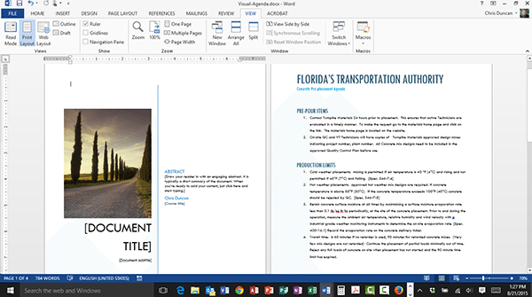 Adding a Cover Page to a Microsoft Word Document