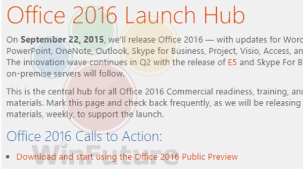 Office 2016 Coming Soon