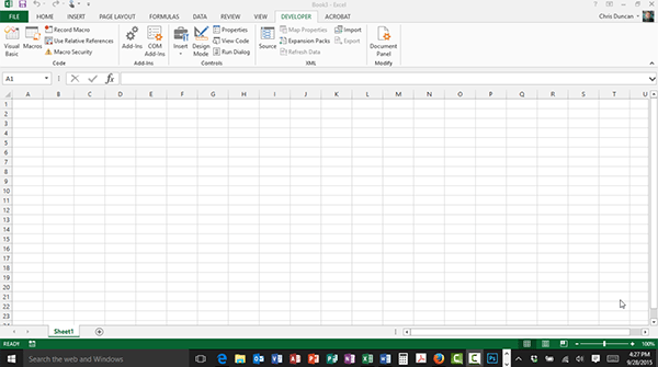 Creating your first macro in Excel