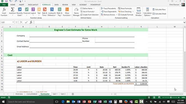 FormulaText() Function New in Excel 2013