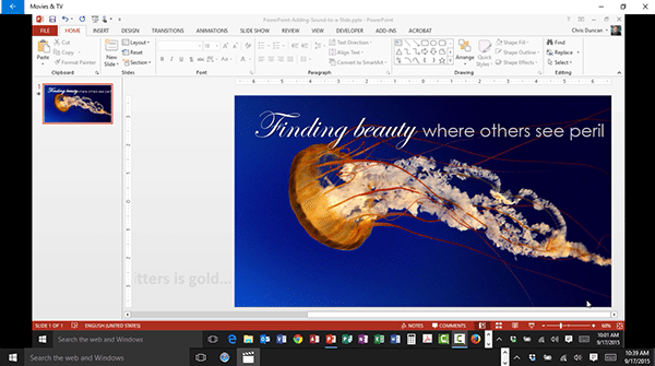Adding Sound to a Slide in PowerPoint