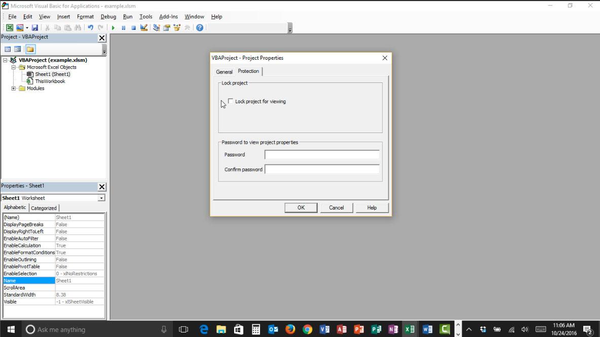 Password Protect Macros