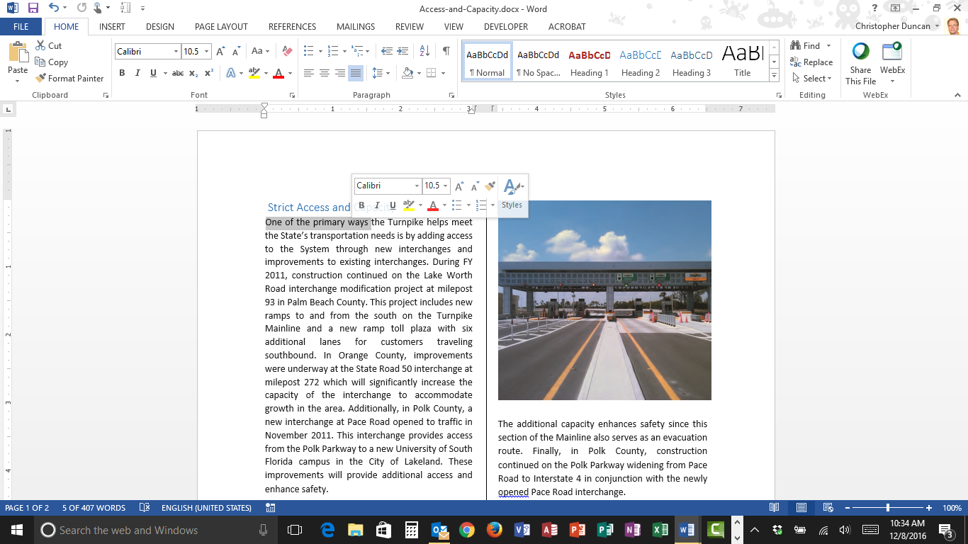 Turn Off the Mini Toolbar in Microsoft Word