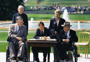 President George H.W. Bush signs the ADA