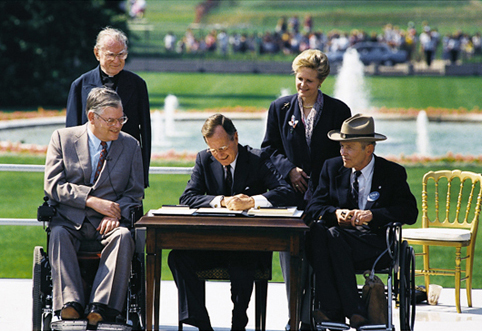 President George H.W. Bush signs the ADA