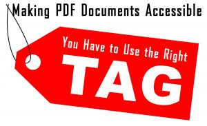 You have to use the right tag to make documents accessible.
